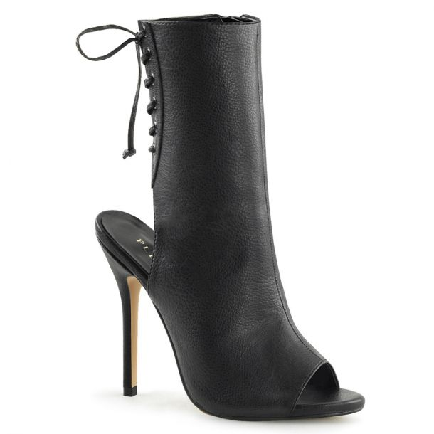Stiletto Ankle Boots AMUSE-1018 - PU Black