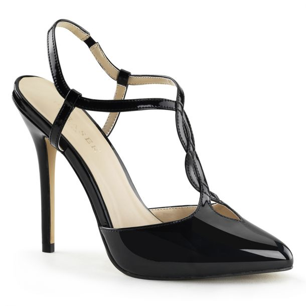 Sling Pumps AMUSE-16 - Patent Black