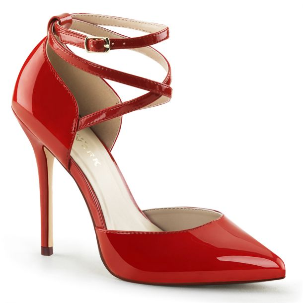 Pumps AMUSE-25 - Patent Red