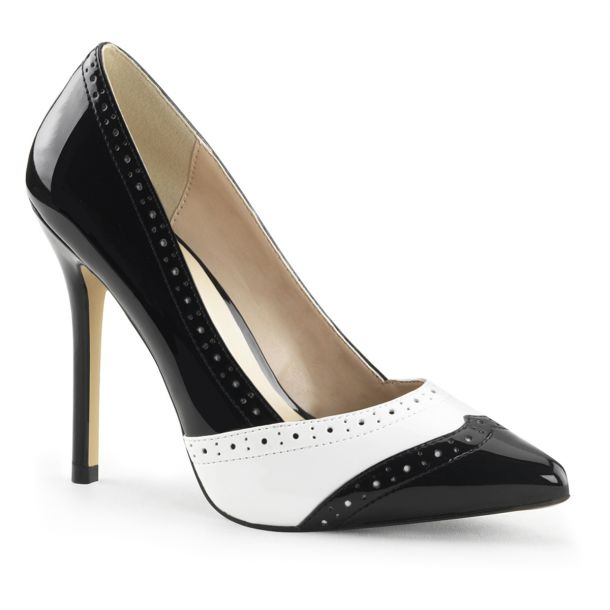 Pumps AMUSE-26 - Patent Black/White