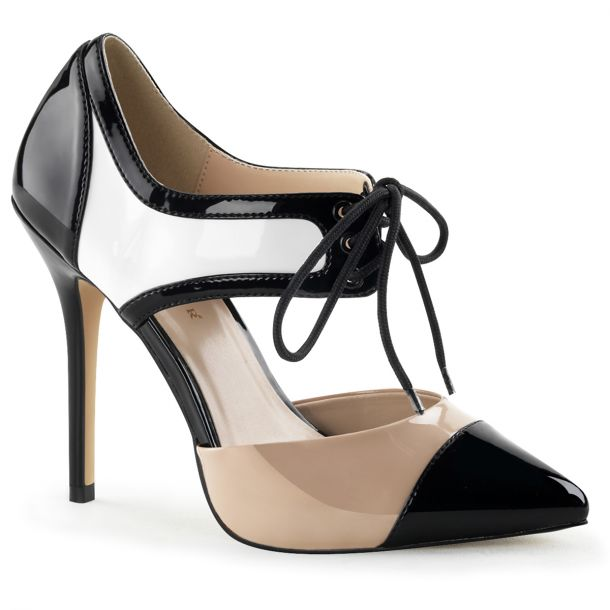 Pumps AMUSE-30 - Black/White/Nude