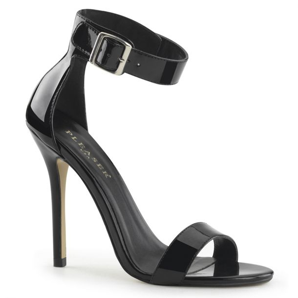 High-Heeled Sandal AMUSE-10 - Patent Black*