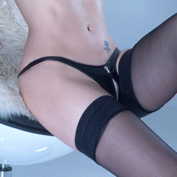 Crotchless Vinyl G-String ANNABELLE