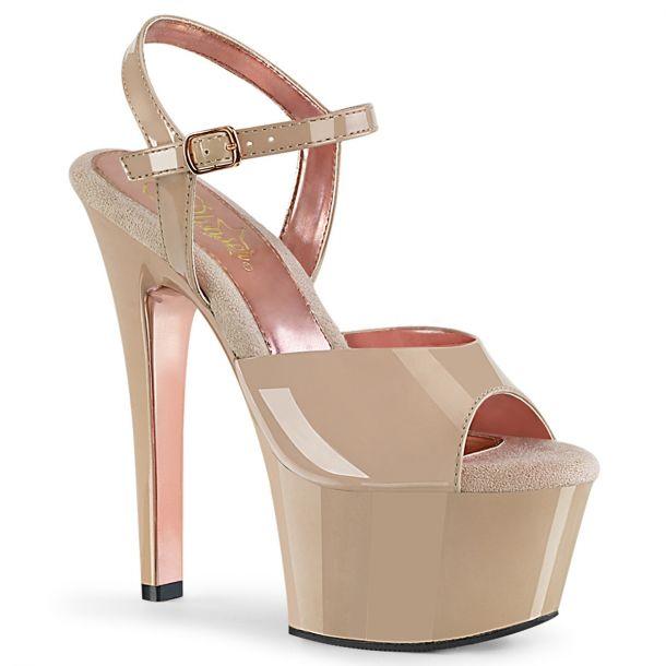 Platform High Heels ASPIRE-609TT - Nude/Rosé Golden
