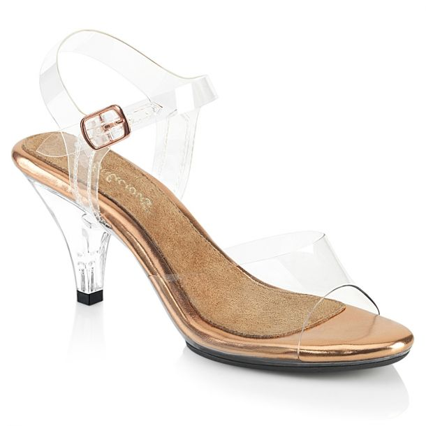 Sandal BELLE-308 - Clear/Rose Gold