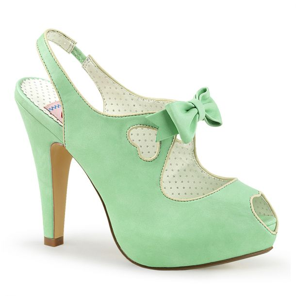 Peeptoe Slingbacks BETTIE-03 - Mint