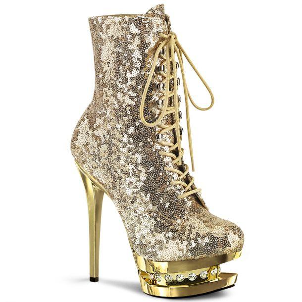 Platform Ankle Boots BLONDIE-R-1020 - Gold