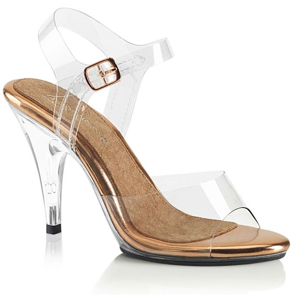 Sandal CARESS-408 - Clear/Rose Gold