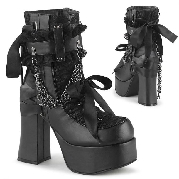 Gothic Lace-Up Boots (Vegan) CHARADE-110*