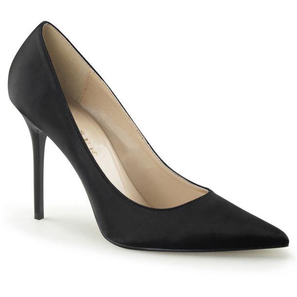 Stiletto Pumps CLASSIQUE-20 - Satin Black*