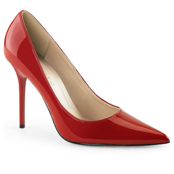 Stiletto Pumps CLASSIQUE-20 - Patent Red