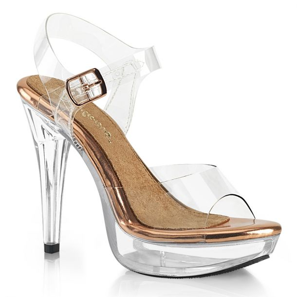 Sandal COCKTAIL-508 - Clear/Rose Gold