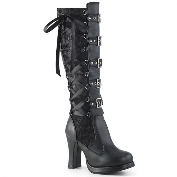 Gothic Women Boots CRYPTO-106 - Black