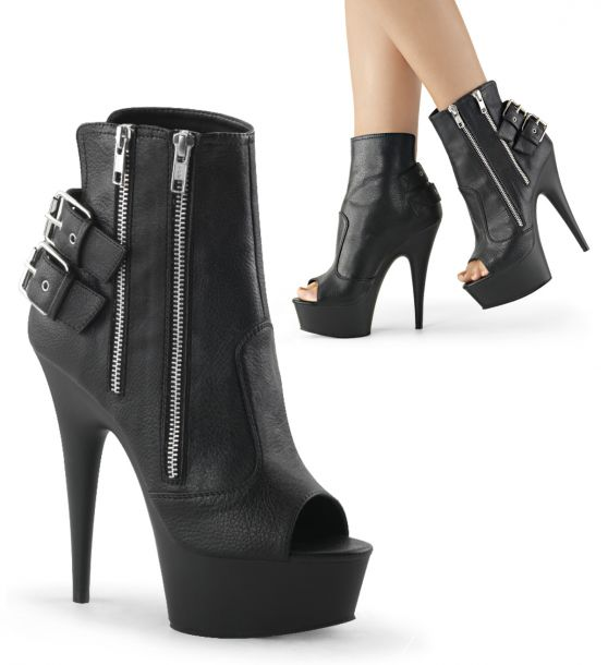 Peep Toe Ankle Booties DELIGHT-1015