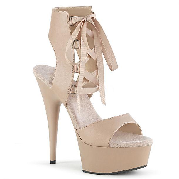 Platform High-Heeled Sandal DELIGHT-600-14 - Nude
