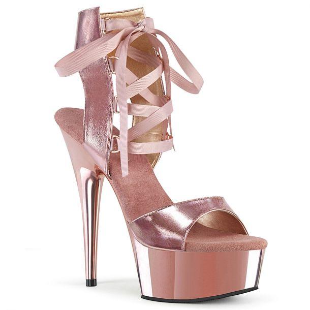 Platform High-Heeled Sandal DELIGHT-600-14 - Rose Gold