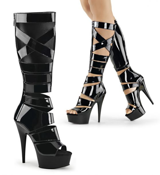 Gladiator High Heels DELIGHT-600-49 - Schwarz