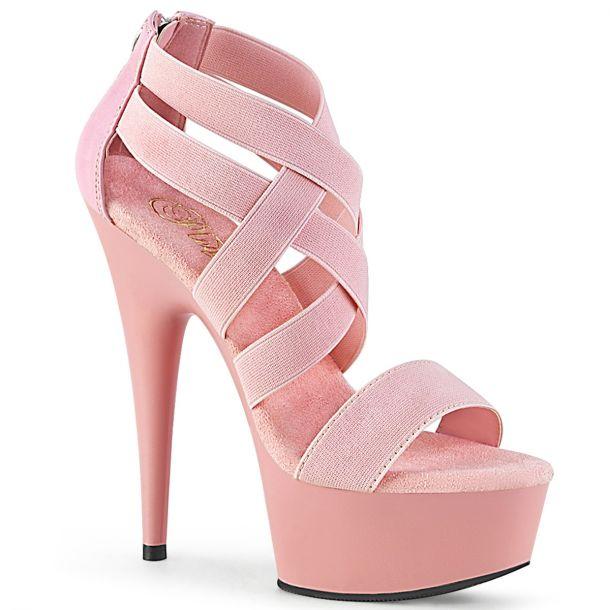 Platform High Heels DELIGHT-669 - Baby Pink