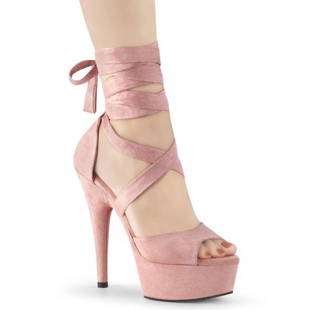 Platform High Heels DELIGHT-679 - Baby Pink