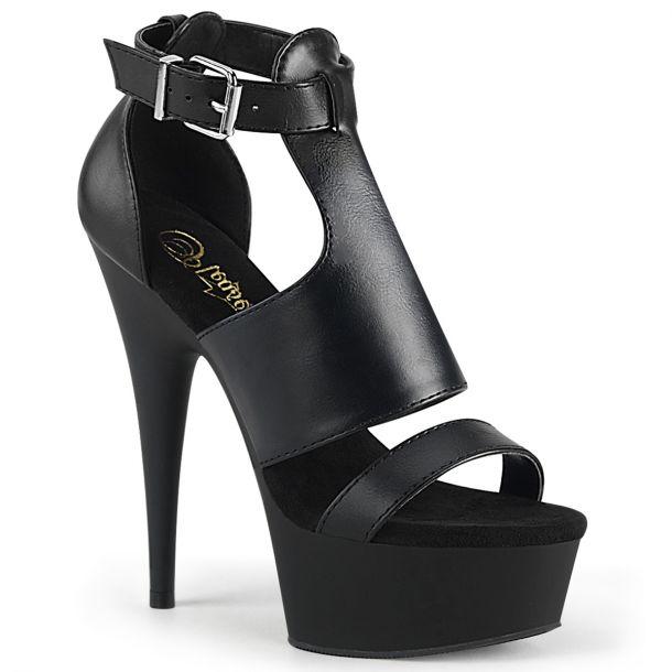 Platform High Heels DELIGHT-692 - Black Matte