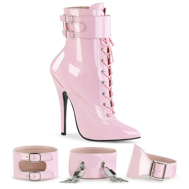 Extreme High Heels DOMINA-1023 - Patent Baby Pink