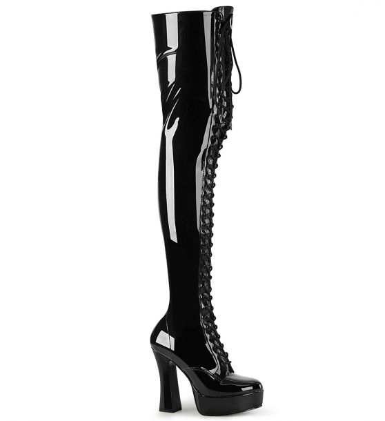Overknee Boot ELECTRA-3023 - Patent Black