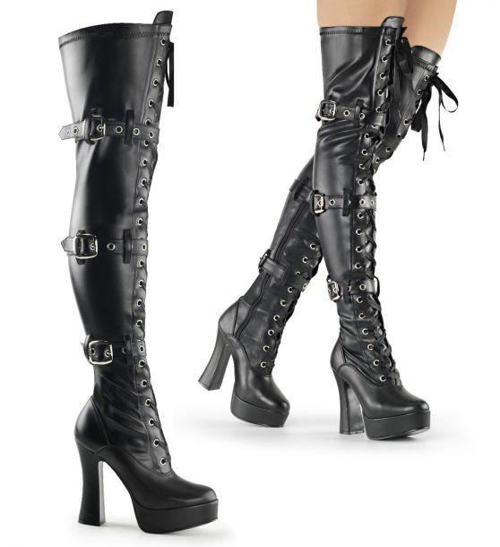 Overknee Boot ELECTRA-3028 - PU Black