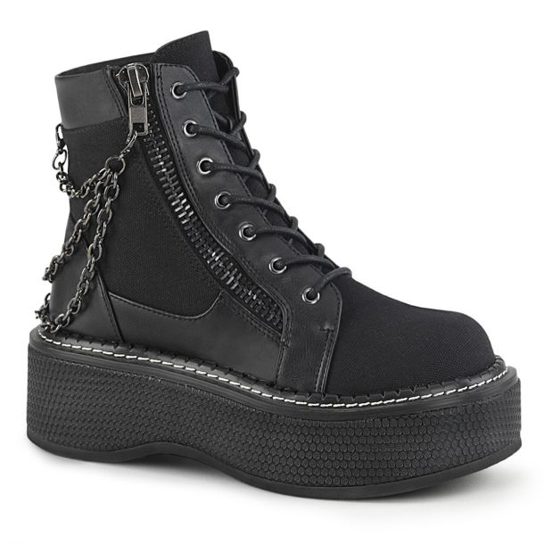 Platform Ankle Boots EMILY-114 - Black