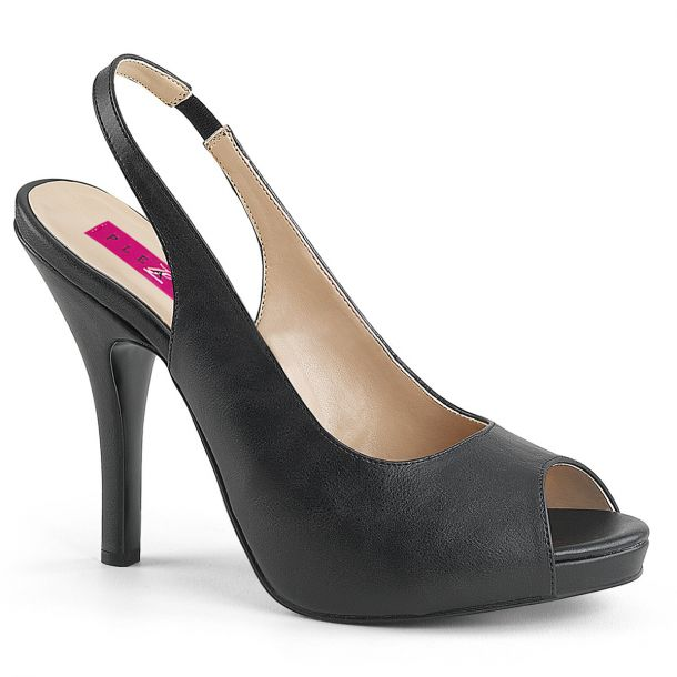 Peep Toes Sling Pumps EVE-04 - PU Black