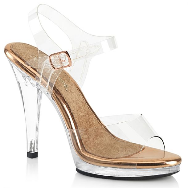 Sandal FLAIR-408 - Clear/Rose Gold