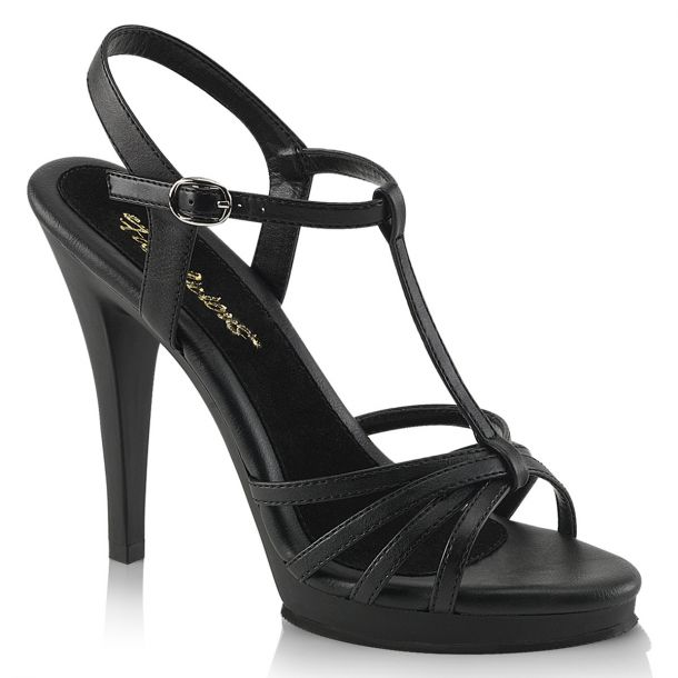 High-Heeled Sandal FLAIR-420 - PU Black