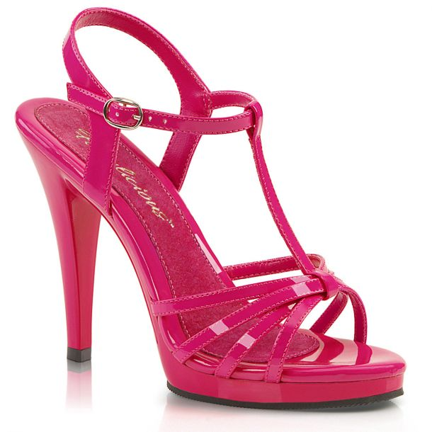 High-Heeled Sandal FLAIR-420 - Patent Hot Pink