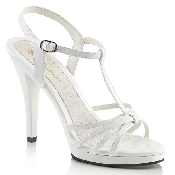 High-Heeled Sandal FLAIR-420 - Patent White