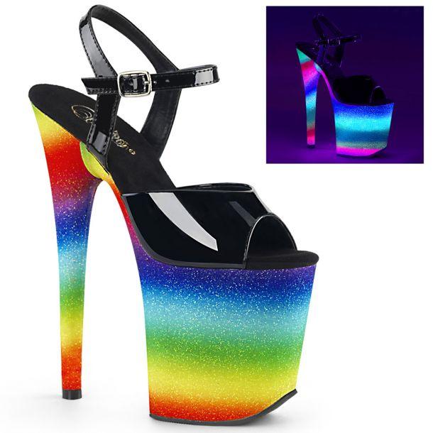 Extreme High Heels FLAMINGO-809WR - Neon Multicolor