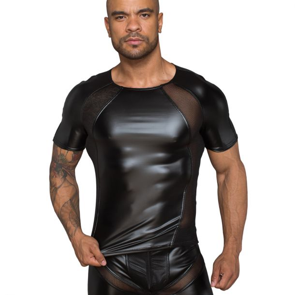 Power Wet Look T-Shirt H056 - Black
