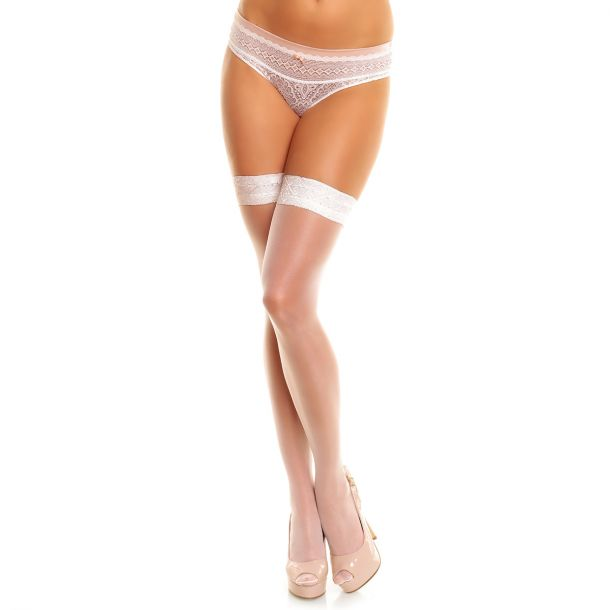 Hold-Up Stockings ALLURE 20 - White*