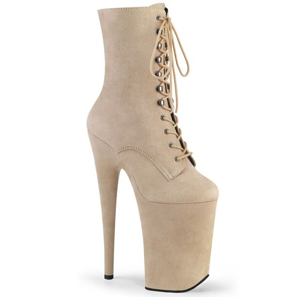 Extreme Platform Heels INFINITY-1020FS - Beige