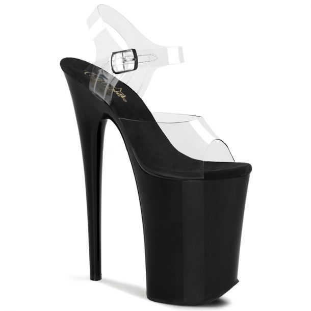 Extreme Platfrom Heels  INFINITY-908 - Black/Clear