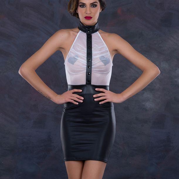 Mini Dress JADE - Black/White*