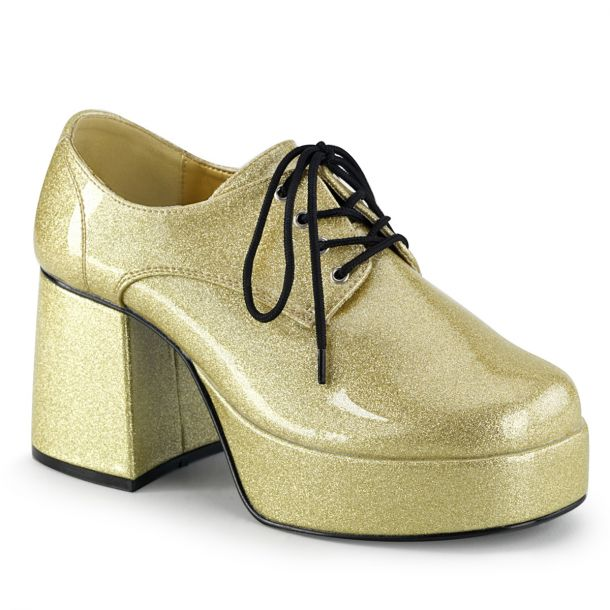 Men Platform Shoes JAZZ-02G - Glitter Gold