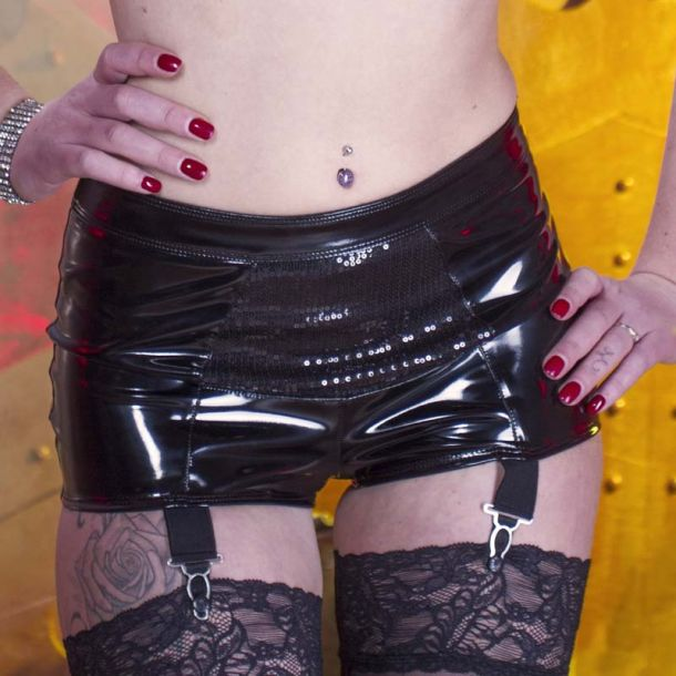 Vinyl Suspender Shorty LIZA MINNELLI*