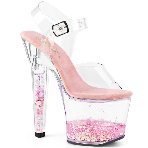 Platform High Heels LOVESICK-708GH - Clear Pink