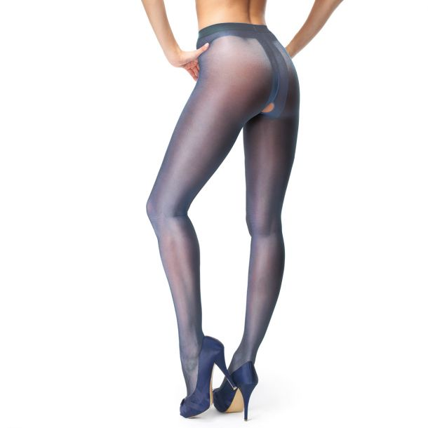 Crotchless Tights P101 - Dark Blue*