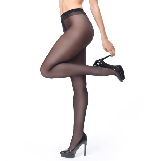 Crotchless Tights P102 - Black*
