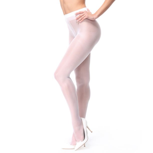 Crotchless Tights P102 - White*