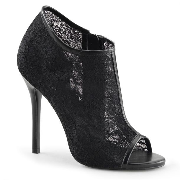 Peep Toe Bootie AMUSE-56 - Black