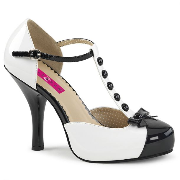 Pumps PINUP-02 - White/Black