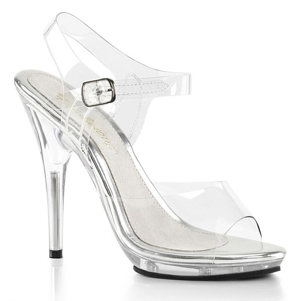 High-Heeled Sandal POISE-508 - Clear