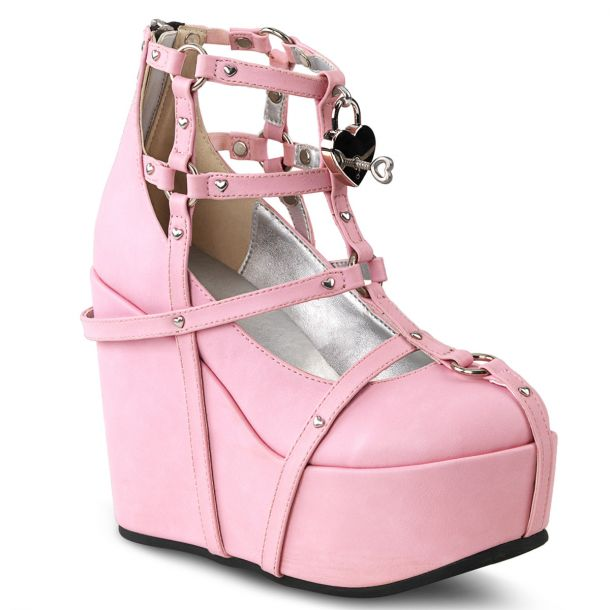 Platform Wedges  POISON-25-2 - Pink