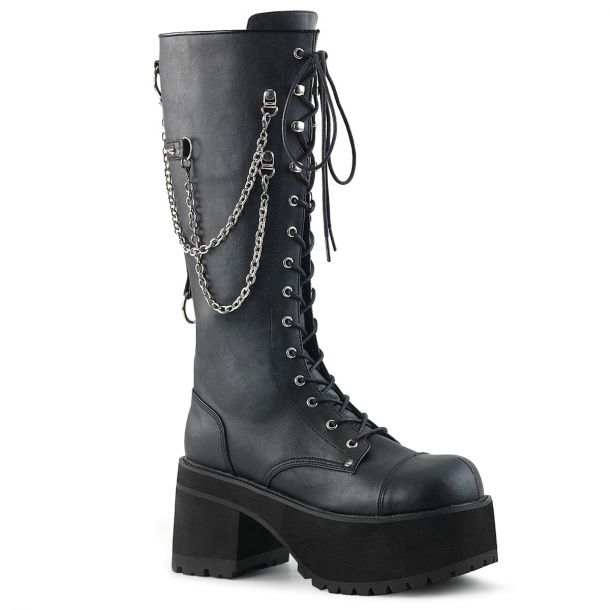 Gothic Platform Boots RANGER-303 - Black